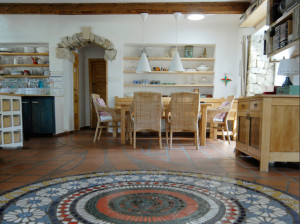 Genius loci tohoto domu obohatila dvoumetrová mandala