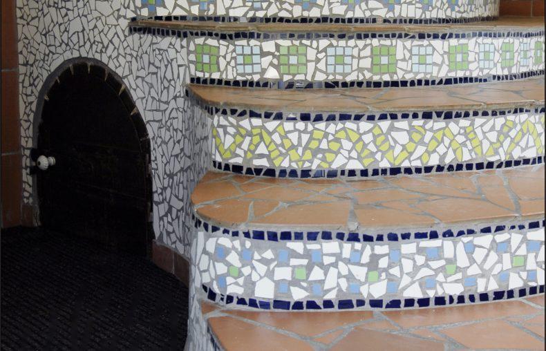 mozaika schody