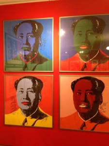 Slavný portrét čínského Mao Ce-tunga