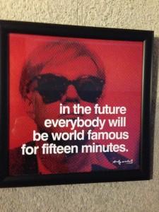 """Andy Warhol: """"Každý si jednou užije svých patnáct minut slávy"""""""
