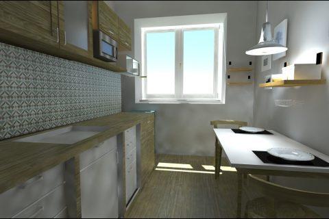 navrh interieru kuchyne