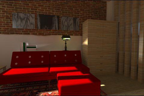 navrh interieru sedacka