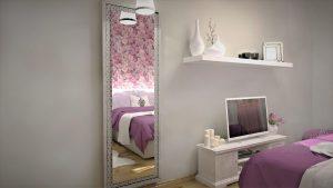 divci pokoj pohled na zrcadlo a komodu
