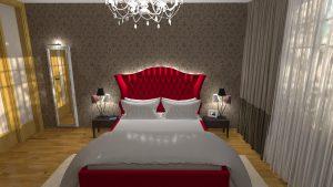 loznice pro rodice pohled na postel