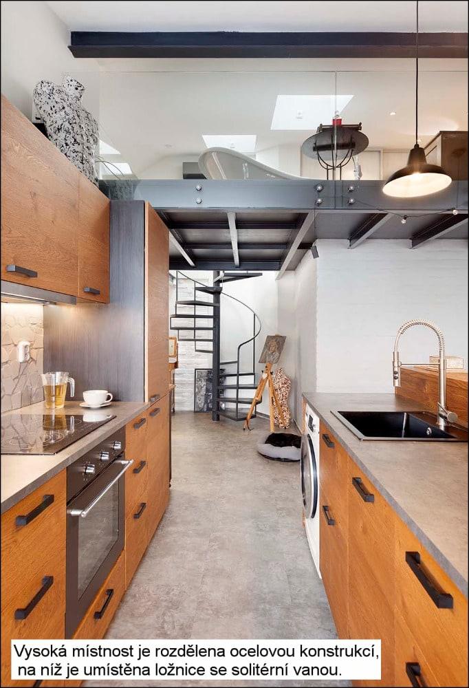 brno loft pohled z kuchyne