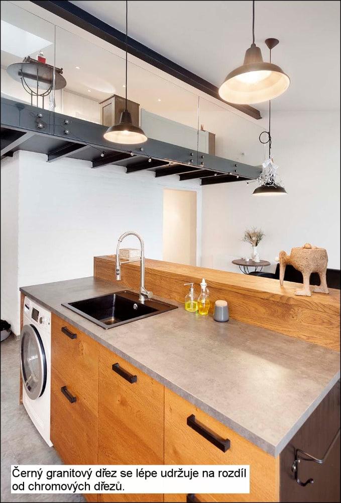 loft brno pohled kuchyne